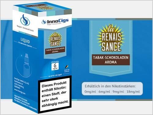 Innocigs Le Renaissance Tabak Schokoladen Aroma E-Zigaretten Premium Liquid aus Deutscher Produktion