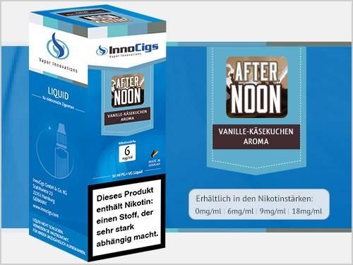 Innocigs After Noon Vanille Käsekuchen Aroma E-Zigaretten Premium Liquid aus Deutscher Produktion