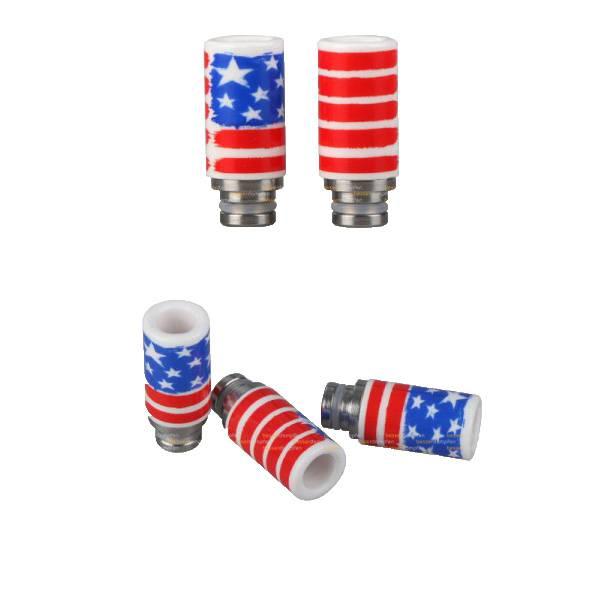 Drip Tip Mundstück Keramik US Flagge 510er Anschluss 1 Stück
