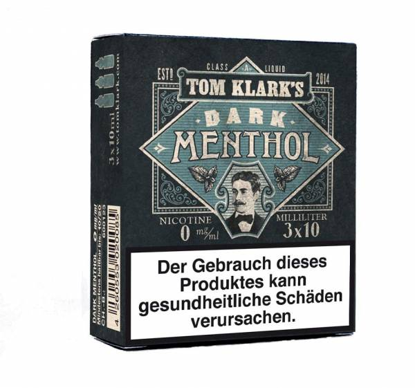 Tom Klark´s Dark Menthol 3 x 10ml E-Zigaretten Liquid