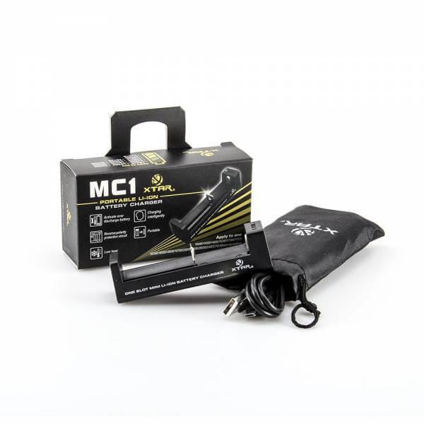 Xtar MC1 Ladegerät für 18350 / 18650 / 26650 USB