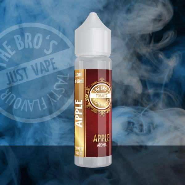 Im Tobbaco Apple Aroma von The Bro's wird der charakteristische Tabakgeschmack mit einer aromatischen Note von saftigen Äpfeln abgerundet und erinnert dabei an Pfeifentabak.