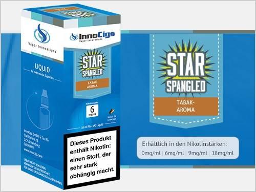 Innocigs Star Spangled Tabak Aroma E-Zigaretten Premium Liquid aus Deutscher Produktion