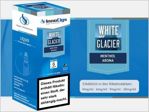 Innocigs White Glacier Menthol Aroma E-Zigaretten Premium Liquid aus Deutscher Produktion