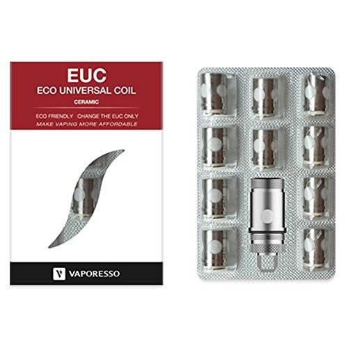 1 x 10er Pack Vaporesso EUC Keramik Verdampferköpfe 0.5 Ohm mit Adapter     1 x EUC Adapterhülle