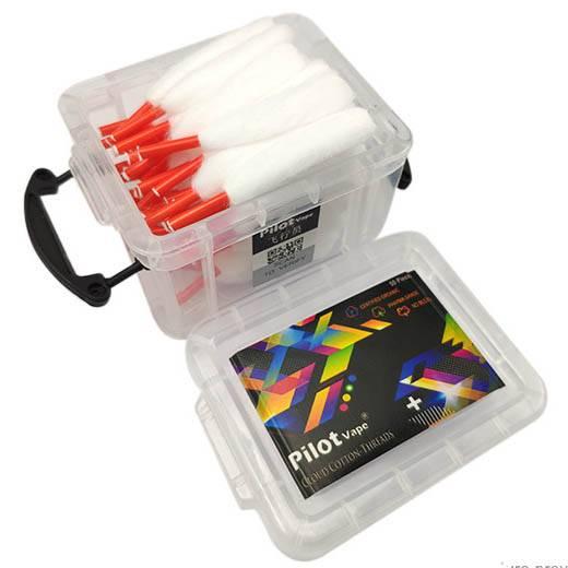 ✓ Pilotvape Cloud Cotton Wattestreifen mit Kunststoffspitze 50 Stück
