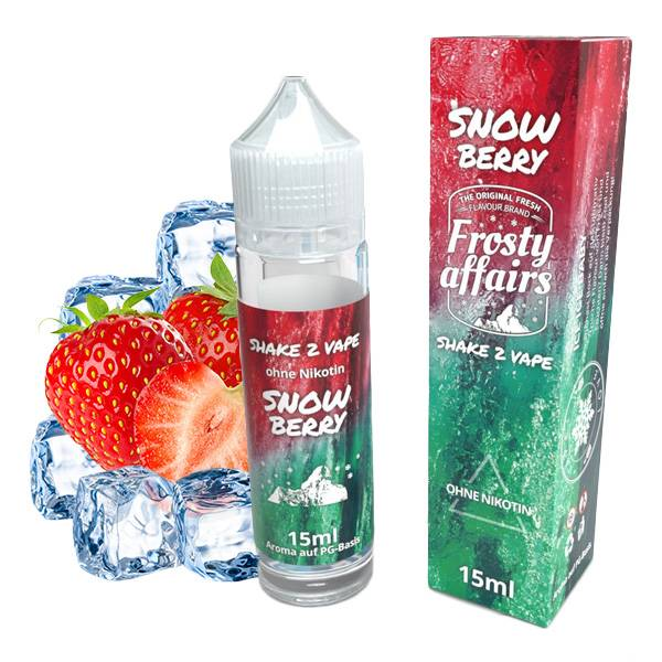 FROSTY AFFAIRS Snowberry Aroma 15 ml in 60ml Chubby Flasche
