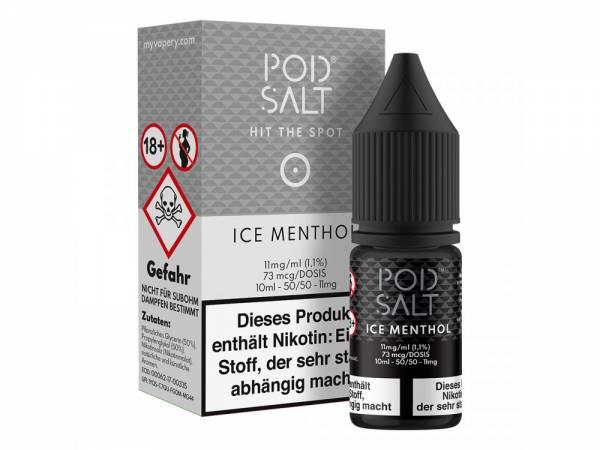 Pod Salt - Ice Menthol - E-Zigaretten Nikotinsalz Liquid