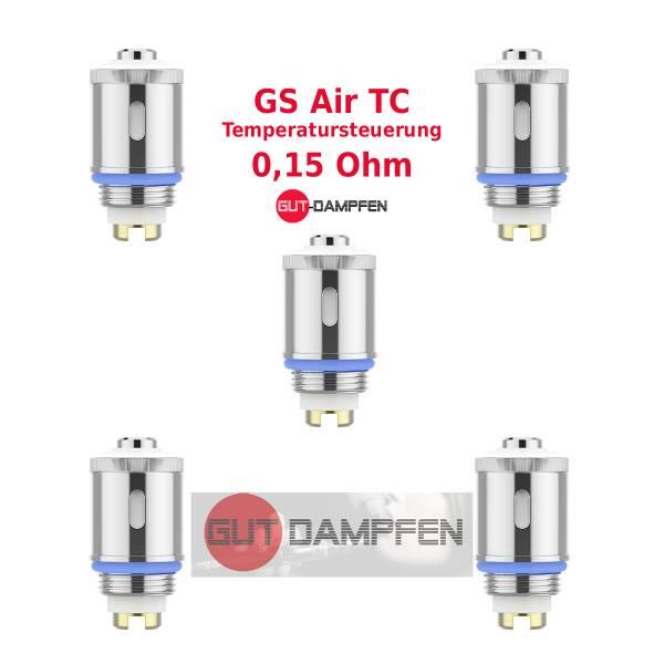 Eleaf GS Air TC pure Cotton 0,15Ohm Temperaturcoil Ersatz Verdampfer (5 Stück)