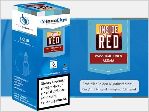 Innocigs Inside Red Wassermelonen Aroma E-Zigaretten Premium Liquid aus Deutscher Produktion