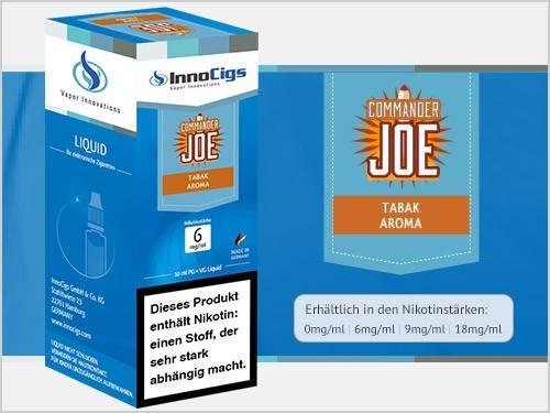 Innocigs Commander Joe Tabak Aroma E-Zigaretten Premium Liquid aus Deutscher Produktion