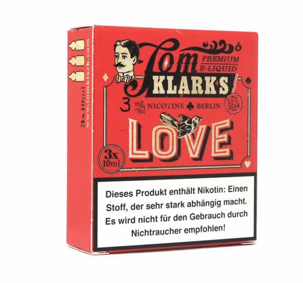 Tom Klark´s Love 3 x 10ml E-Zigaretten Liquid