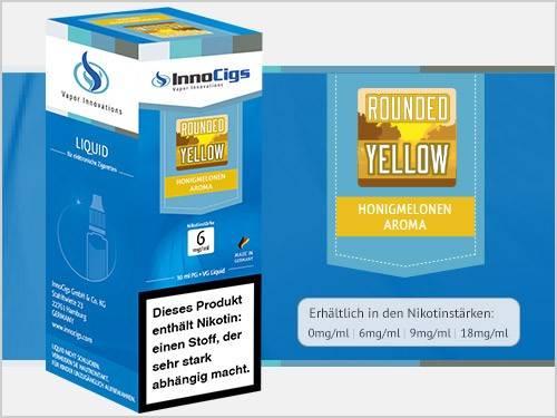 Innocigs Rounded Yellow Honigmelonen Aroma E-Zigaretten Premium Liquid aus Deutscher Produktion