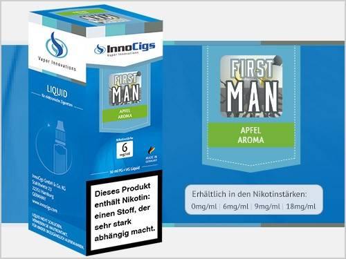 Innocigs First Man Apfel Aroma E-Zigaretten Premium Liquid aus Deutscher Produktion