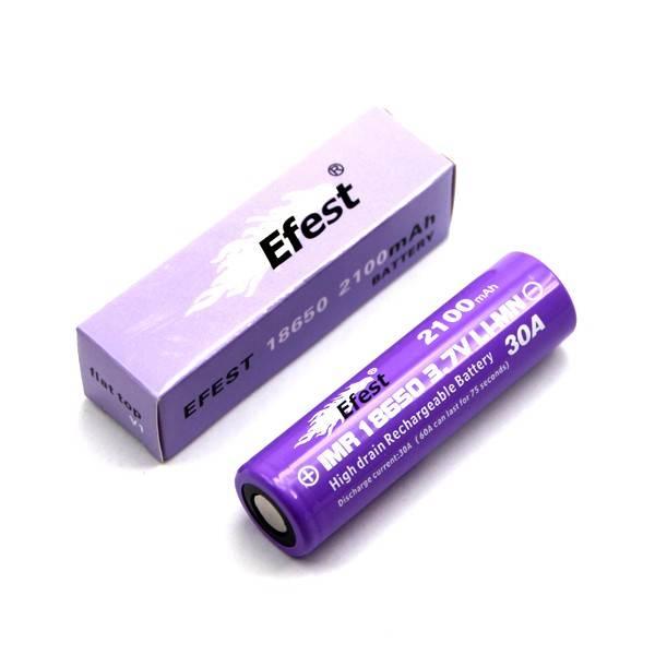 Efest IMR 18650 2100mAh 3,6V - 3,7V Flat Top (ungeschützt)