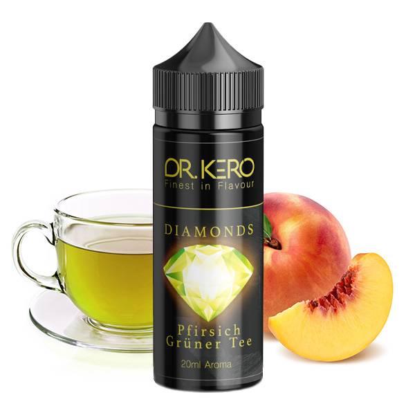 DR. KERO Diamonds Pfirsich Grüner Tee Aroma 20ml in 120ml Mischflasche