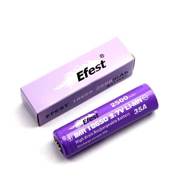 Efest IMR 18650 2500mAh 3,7V Li-Ionen (Button Top) ungeschützt