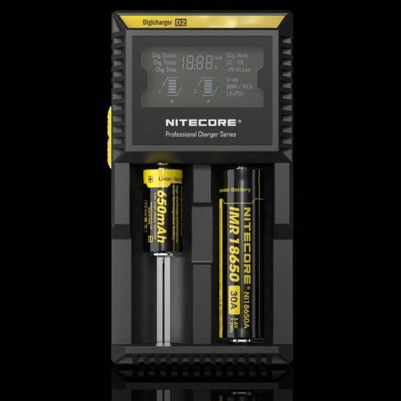 Original Nitecore D2 Ladegerät für Dampfgeräte Mod und Akkuträger Akkus