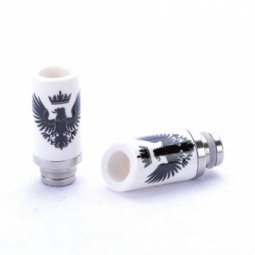 """Keramik Drip Tip E-Zigarette Mundstück """"Adler"""" big Hole mit 510er Anschluss"""